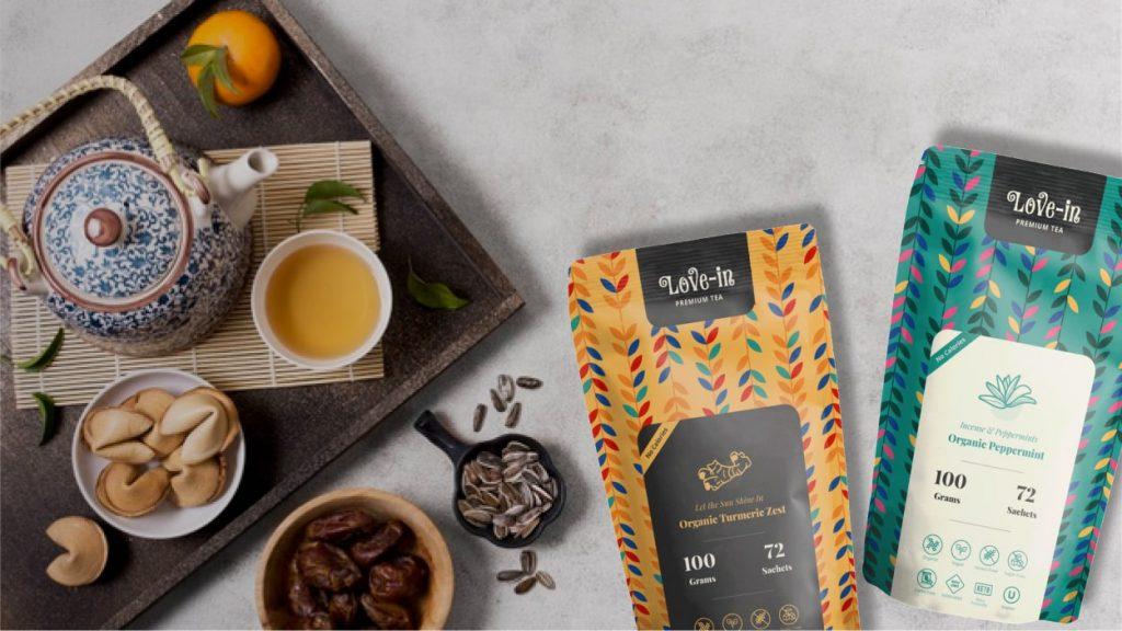 Love-In Tea Packaging